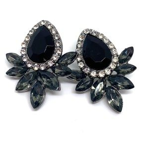 Jewelry - Crystal Cluster Statement Earrings